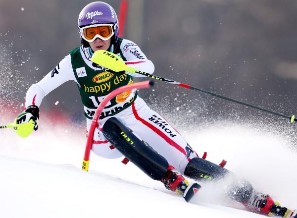 GEPA-27011334066 - MARBURG,SLOWENIEN,27.JAN.13 - SKI ALPIN - FIS Weltcup, Slalom der Damen. Bild zeigt Michaela Kirchgasser (AUT). Foto: GEPA pictures/ Markus Oberlaender